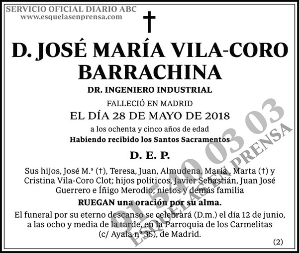 José María Vila-Coro Barrachina